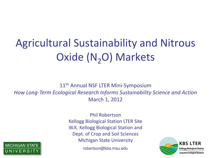 agricultural sustainability and nitrous oxide n 2 o markets n.