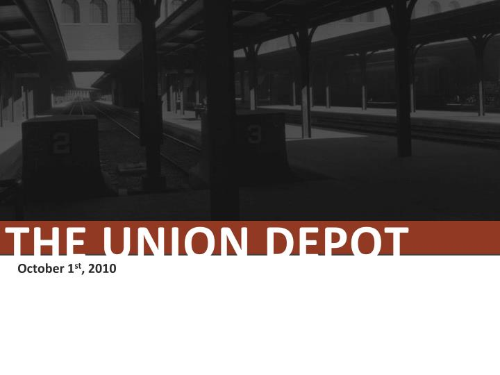 the union depot n.