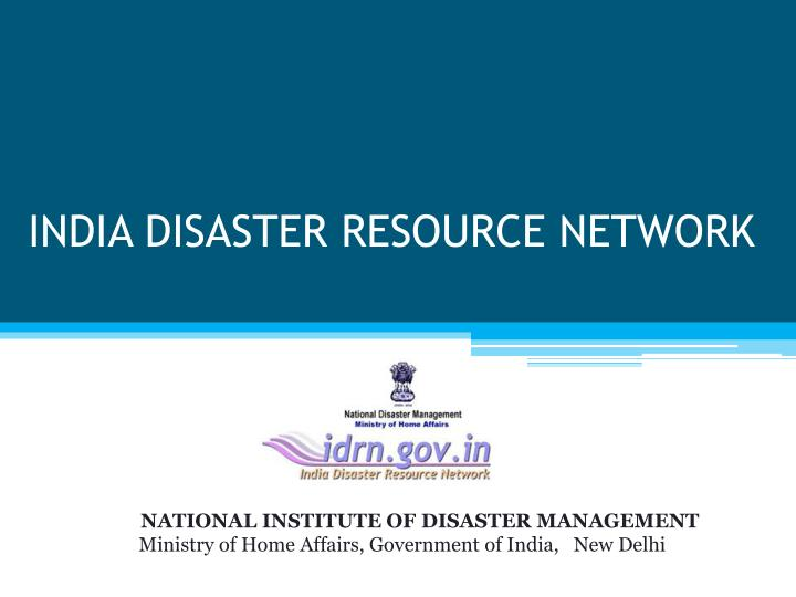 india disaster resource network n.