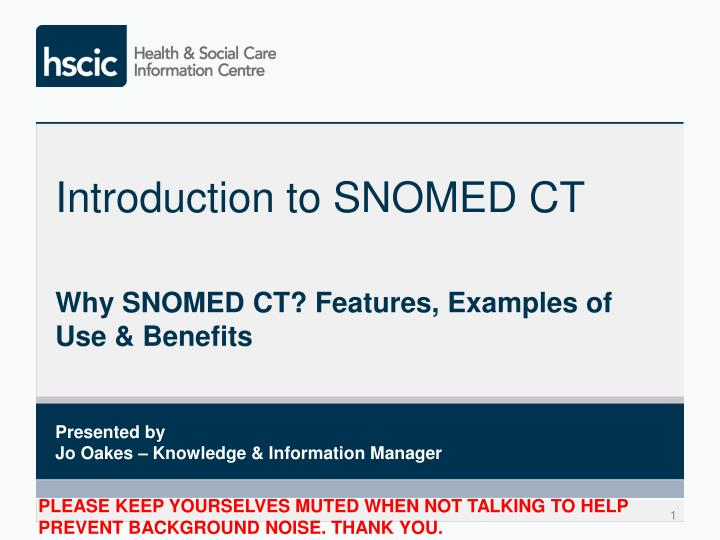 introduction to snomed ct n.