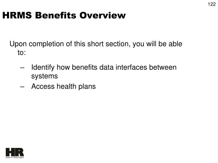HRMS Benefits Overview