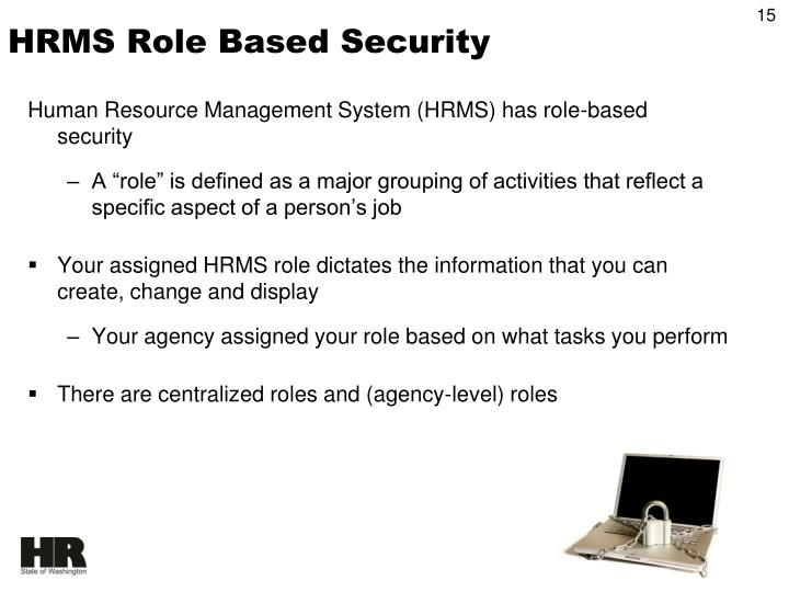 HRMS Role Based Security
