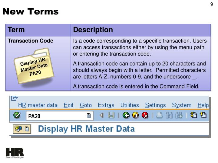 Display HR Master Data