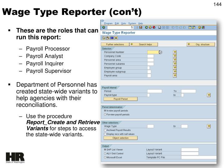 These are the roles that can run this report: