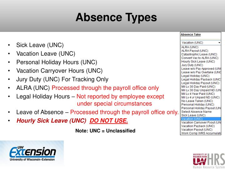 Absence Types