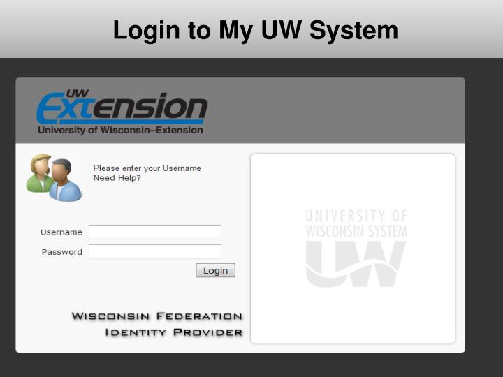 Login to My UW System