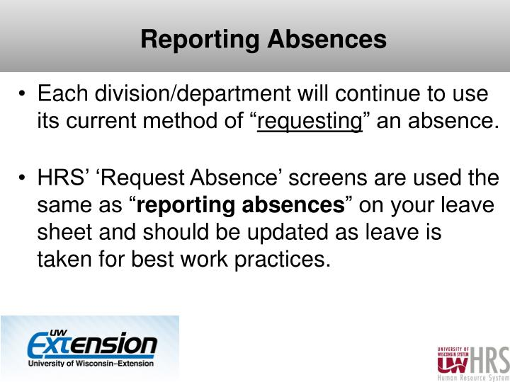 Reporting Absences