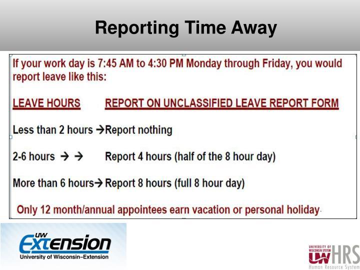 Reporting Time Away
