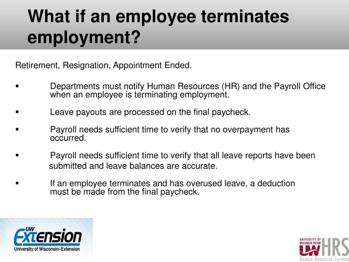 What if an employee