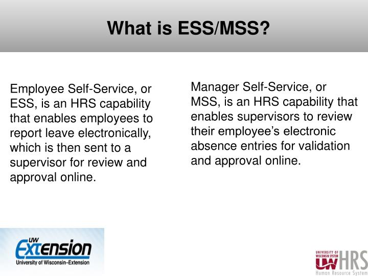 What is ESS/MSS?