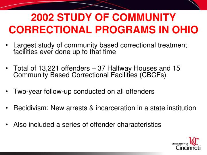 the effectiveness of community correction programs Characteristics of community-based correctional education programs  shifting to a community supervision approach  community-based correctional education.