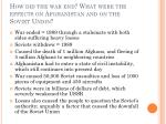 how did the war end what were the effects on afghanistan and on the soviet union