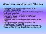 what is a development studies