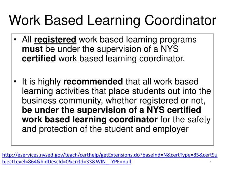 Work Based Learning Coordinator