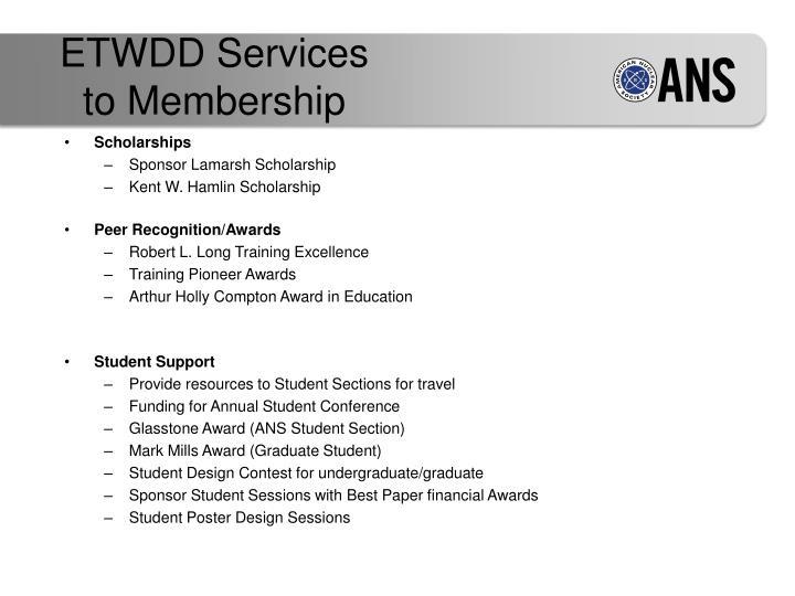 ETWDD Services