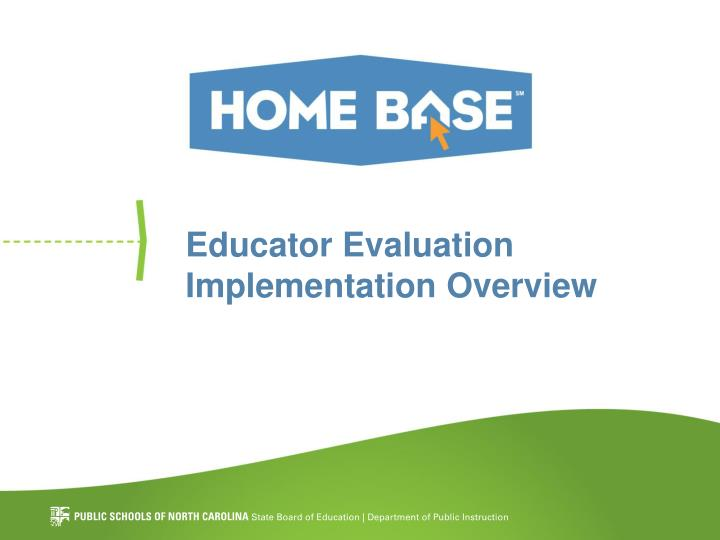 educator evaluation implementation overview n.