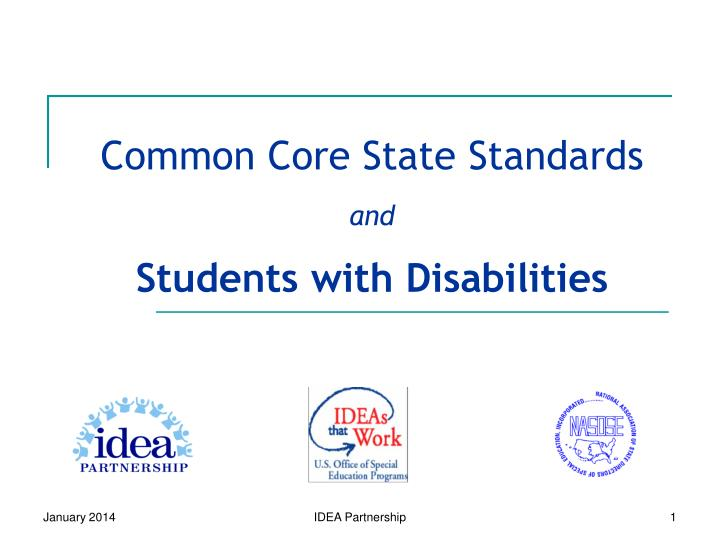common core state standards and students with disabilities n.