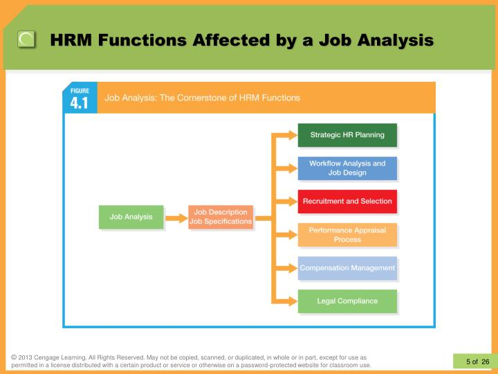 analysing the primary hrm functions Stressing the importance of job analysis as a strategic hrm practice with   basic job-related data (task responsibilities, knowledge, skills and.