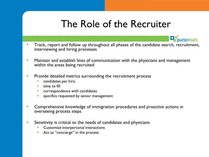 The Role of the Recruiter