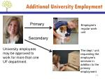 additional university employment