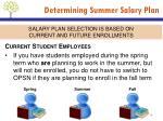 determining summer salary plan1