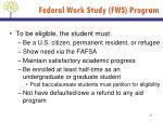 federal work study fws program2