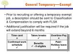 general temporary exempt1