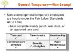 general temporary non exempt