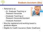 graduate assistants gas