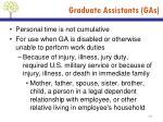 graduate assistants gas4