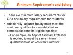 minimum requirements and salary1