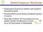 student temporary non exempt1