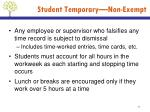 student temporary non exempt3