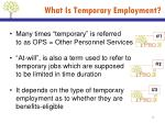 what is temporary employment