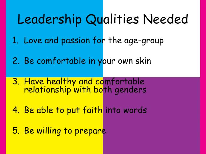 Leadership Qualities Needed