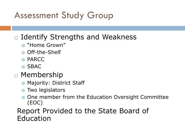 Assessment Study Group
