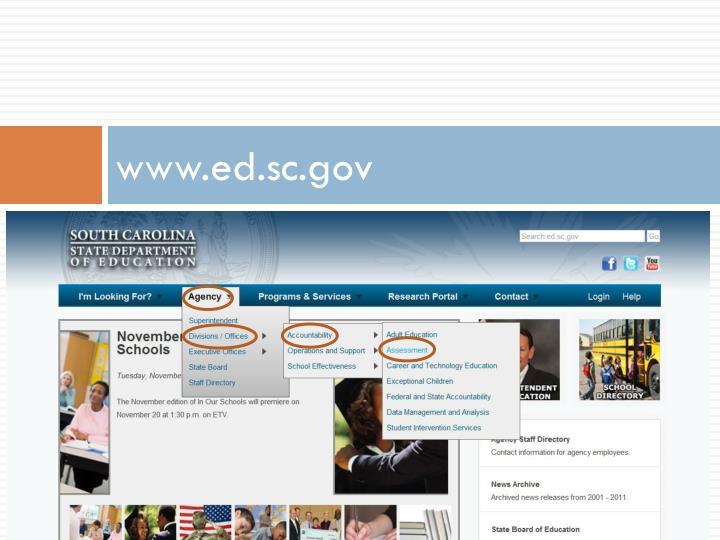 Www ed sc gov