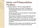 advisor and pi responsibilities the basics