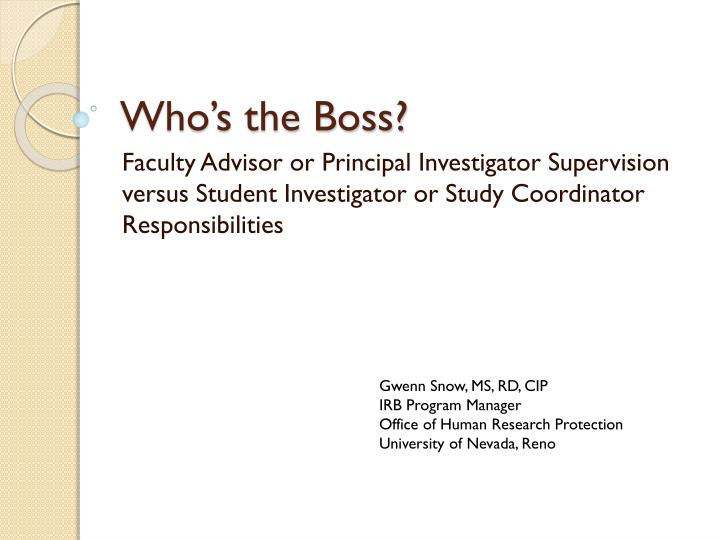 who s the boss n.