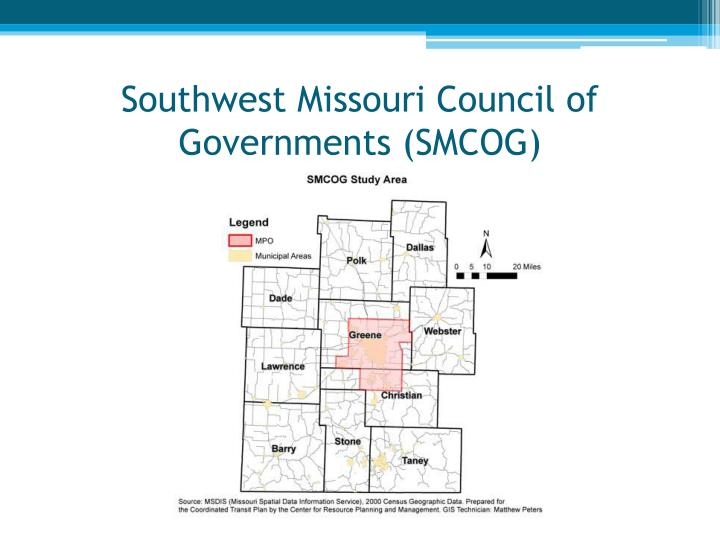 Southwest missouri council of governments smcog