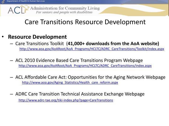 Care Transitions Resource Development