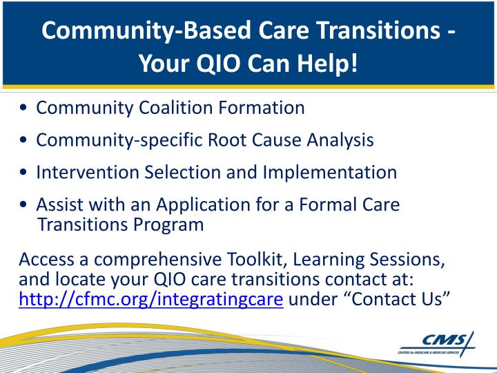 Community-Based Care Transitions -