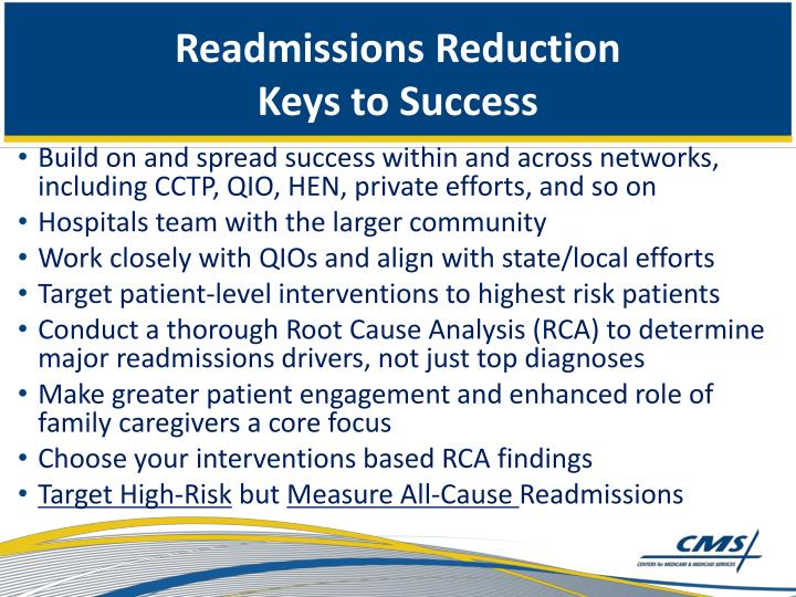Readmissions Reduction