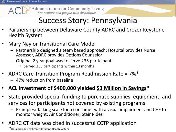 Success Story: Pennsylvania