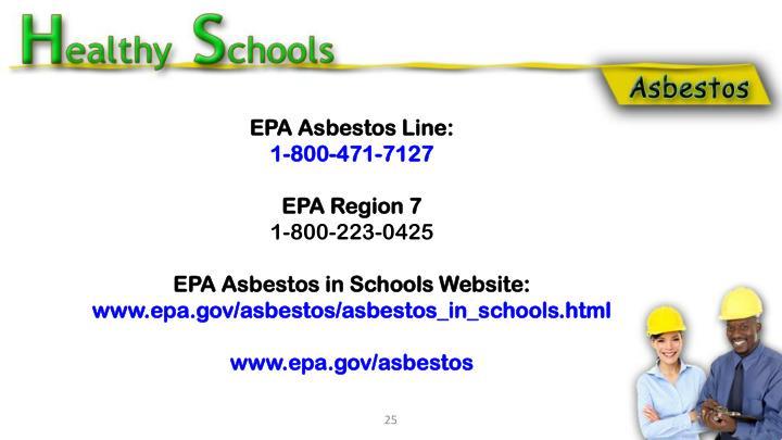 EPA Asbestos Line: