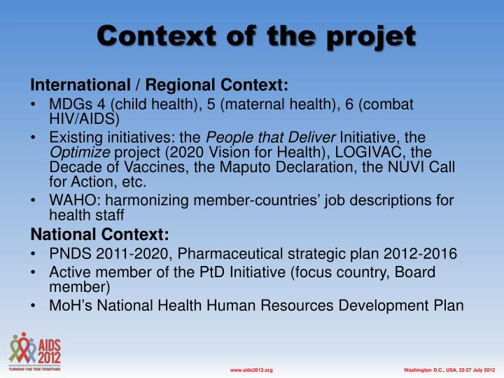 Context of the projet