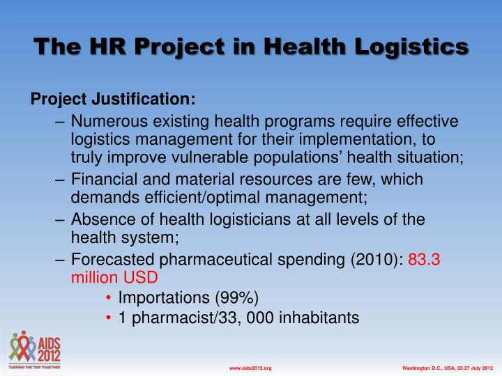 The HR Project in Health Logistics