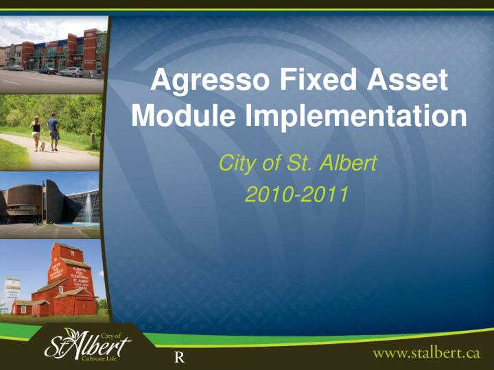 agresso fixed asset module implementation n.
