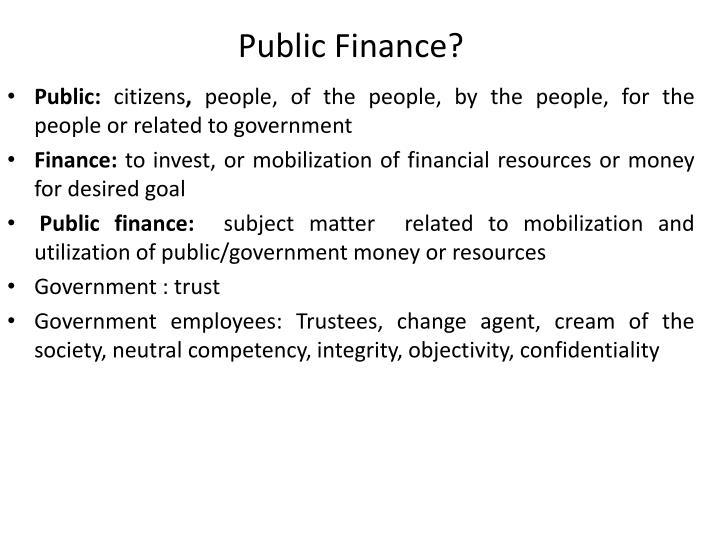 Public Finance?