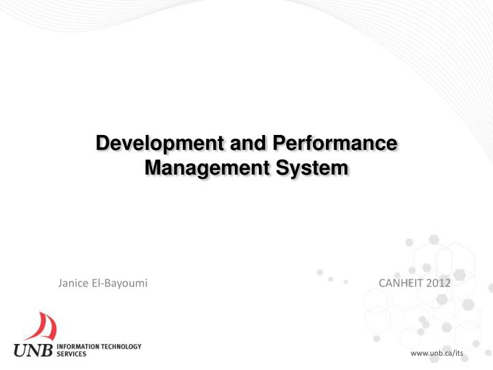 development and performance management system n.